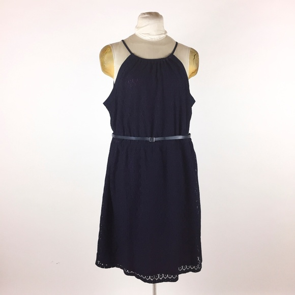 d75c45afc6aa6 Lane Bryant Blue Lace Dress Sleeveless Sundress